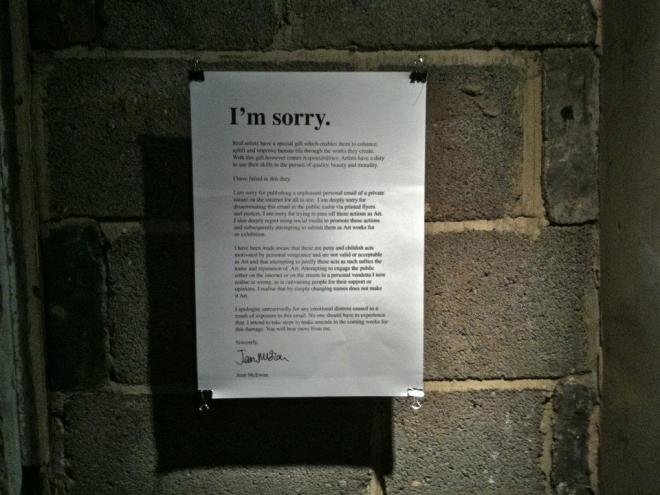 I'm Sorry by Jean McEwan (installation view 2)