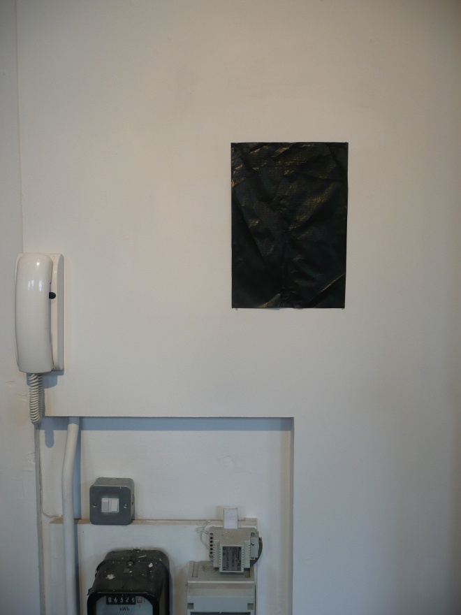 'untitled', 2011. Installation view, 'Inhospitable', Bridewell Studios, Liverpool Independents Biennial